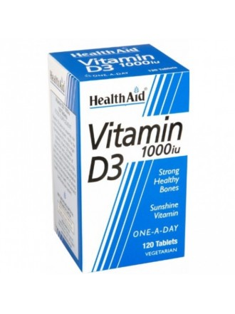 HEALTH AID VITAMIN 1000IU D3 120CAPS