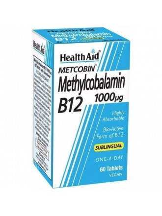 HEALTH AID METCOBIN METHYLCOBALAMIN 1000mg B12 60TABS