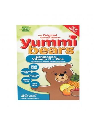 HERO NUTRITIONALS YUMMI BEARS ECHINACEA + VITAMIN C & ZINC 40 ΜΑΣΩΜΕΝΕΣ ΤΑΜΠΛΕΤΕΣ
