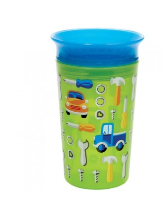 MUNCHKIN ΚΥΠΕΛΛΟ MIRACLE 360° DECO SIPPY CUP GREEN CAR 266ML