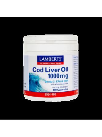 LAMBERTS COD LIVER OIL 1000MG 180CAP