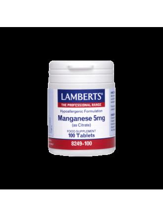LAMBERTS MANGANESE 5MG 100CAP