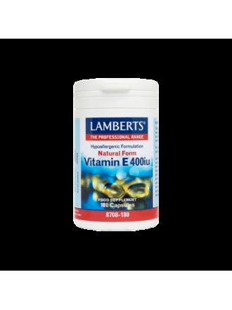 LAMBERTS E 400IU NATURAL 180CAP