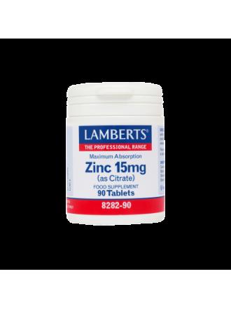LAMBERTS ZINC 15MG (AS CITRATE) 90TABS