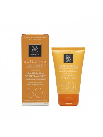 APIVITA SUNCARE ANTI-SPOT FACE CREAM SEA FANNEL & 3D PRO-ALGAE SPF50 50ML