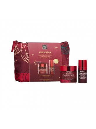 APIVITA BEE YOUNG SET WINE ELIXIR RICH TEXTURE