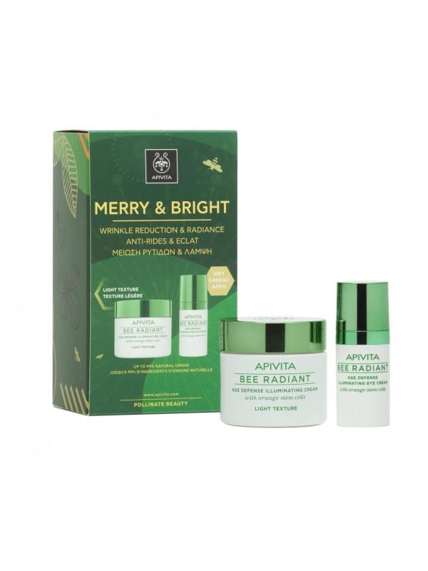 APIVITA MERRY & BRIGHT SET BEE RADIANT LIGHT TEXTURE