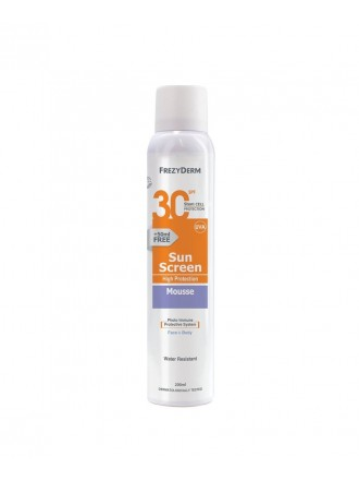 FREZYDERM SUNSCREEN MOUSSE SPF30 FACE & BODY 200ML