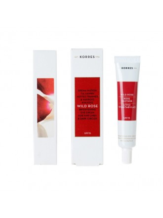 KORRES WILD ROSE BRIGHTENING FIRST WRINKLES & DARK CIRCLES EYE CREAM VITAMIN C 15ML