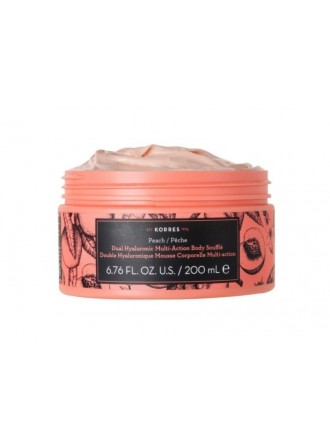 KORRES PEACH DOUBLE HYALURONIC MULTI ACTION BODY SOUFFLE 200ML
