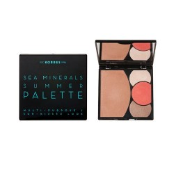KORRES SEA MINERALS SUMMER PALETTE MULTI-PURPOSE / SUN-KISSED LOOK CORAL SUNSETS 13GR