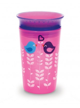 MUNCHKIN MIRACLE 360° DECO SIPPY CUP PINK BIRD 12M+, 266ML