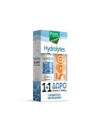 POWER HEALTH HYDROLYTES + VITAMIN C 500MG 2 Χ 20 ΑΝΑΒΡΑΖΟΝΤΑ ΔΙΣΚΙΑ