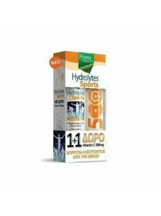 POWER HEALTH HYDROLYTES SPORTS + VITAMIN C 500MG 2 X 20 ΑΝΑΒΡΑΖΟΝΤΑ ΔΙΣΚΙΑ