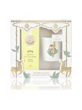 ROGER & GALLET CHRISTMAS SET EXTRAIT DE COLOGNE NEROLI FACETIE 100ML & ΑΡΩΜΑΤΙΚΟ ΚΕΡΙ 60GR