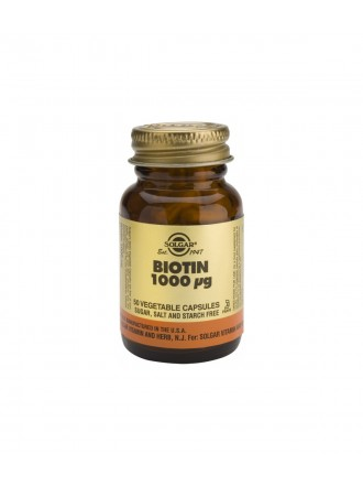 SOLGAR BIOTIN 1000MCG VEGETABLE 50CAP