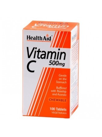 HEALTH AID VITAMIN C 500MG CHEWABLE 100TABLETS
