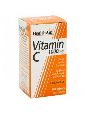 HEALTH AID VITAMIN C 1000MG CHEWABLE 100 TABLETS