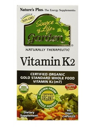 NATURE'S PLUS SOURCE OF LIFE GARDEN VITAMIN K2 120MCG 60VCAPS