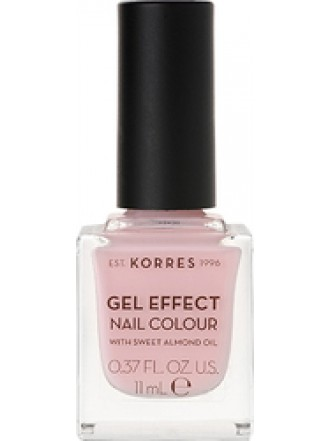 KORRES GEL EFFECT NAIL COLOUR CANDY PINK No 5 11ML
