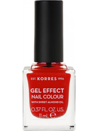 KORRES GEL EFFECT NAIL COLOUR CORAL RED No 48 11ML
