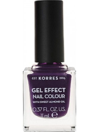 KORRES GEL EFFECT NAIL COLOUR VIOLET GARDEN No 75 11ML