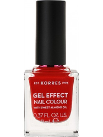 KORRES GEL EFFECT NAIL COLOUR ROYAL RED No 53 11ML