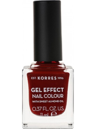 KORRES GEL EFFECT NAIL COLOUR WINE RED No 59 11ML
