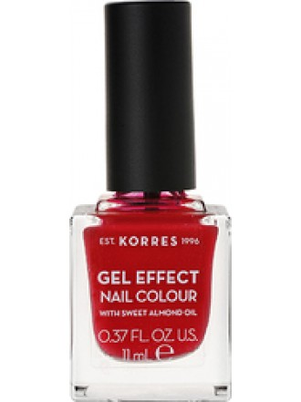 KORRES GEL EFFECT NAIL COLOUR ROSY RED No 51 11ML