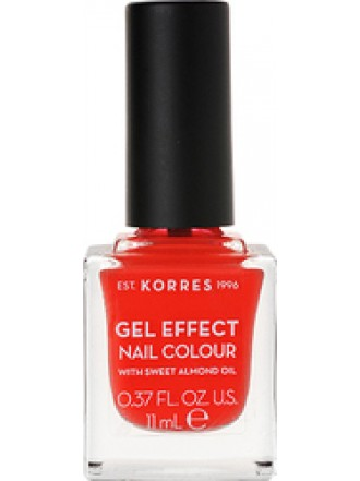 KORRES GEL EFFECT NAIL COLOUR CORAL No 45 11ML