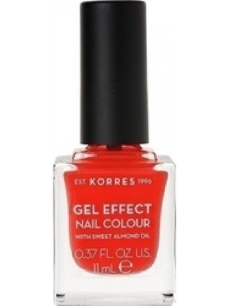KORRES GEL EFFECT NAIL COLOUR WATERMELON No 19 11ML