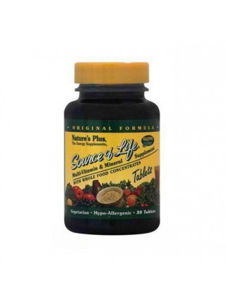 NATURE'S PLUS SOURCE OF LIFE 30TABLETS