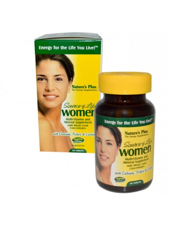 NATURE'S PLUS SOURCE OF LIFE WOMEN'S MULTI-VITAMIN 60TABLETS