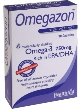 HEALTH AID OMEGAZON 750MG 30CAPS -BLISTER