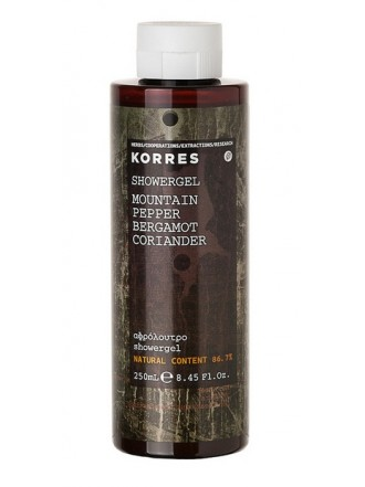 KORRES ΑΦΡΟΛΟΥΤΡΟ MOUNTAIN PEPPER BERGAMOT CORIANDER 250ML