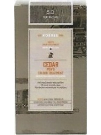 KORRES CEDAR MEN'S COLOUR TREATMENT 5.0 ΓΚΡΙ ΦΥΣΙΚΟ 40ML