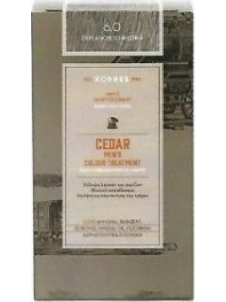 KORRES CEDAR MEN'S COLOUR TREATMENT 6.0 ΓΚΡΙ ΑΝΟΙΧΤΟ ΦΥΣΙΚΟ 40ML