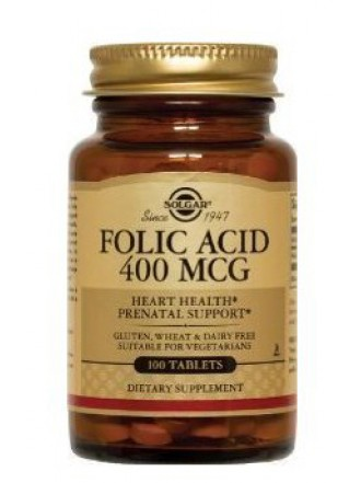 SOLGAR FOLIC ACID 400ΜCG TABS 100S