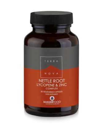 TERRANOVA PROSTATE SUPPORT COMPLEX NETTLE ROOT, LYCOPENE & ZINC 50CAPS