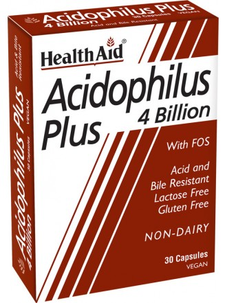 HEALTH AID ACIDOPHILUS PLUS 4 BILLION - BLISTER 30 VEGCAPS