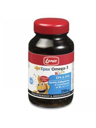 LANES EPAX® OMEGA-3 KIDS, 60 ΜΑΣΩΜΕΝΕΣ ΚΑΨΟΥΛΕΣ, ΓΕΥΣΗ ΦΡΑΓΚΟΣΤΑΦΥΛΛΟΥ