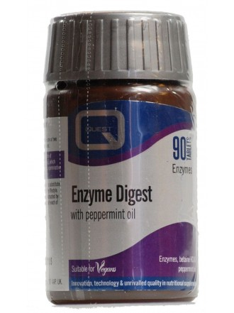 QUEST ENZYME DIGEST WITH PEPPERMINT OIL TABS 90S