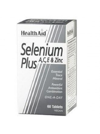 HEALTH AID SELENIUM PLUS (VITAMINS A, C, E & ZINC) TABLETS 60'S