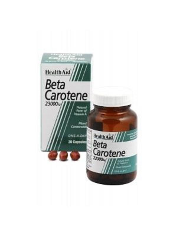 HEALTH AID BETA-CAROTENE NATURAL 15MG CAPSULES 30'S