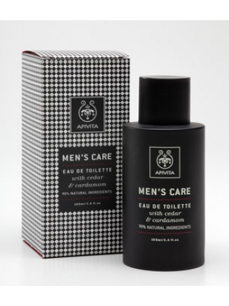 APIVITA MENS CARE EAU DE TOILETTE ΜΕ ΚΕΔΡΟ & ΚΑΡΔΑΜΟ 100ML