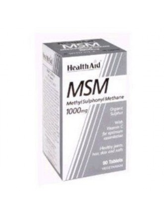 HEALTH AID MSM 1000MG VEGETARIAN TABLETS 90'S