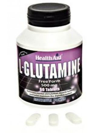 HEALTH AID L-GLUTAMINE 500mg 60's