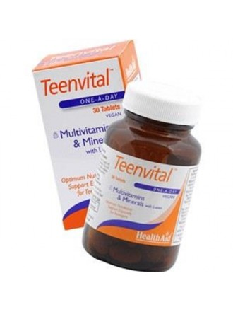 HEALTH AID TEENVITAL TABLETS 30'S (AGES 12-16)