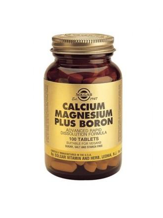 SOLGAR CALCIUM MAGNESIUM BORON TABS 100S