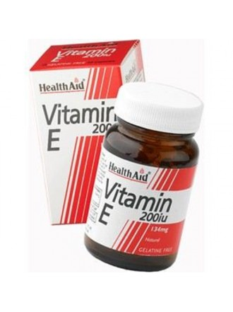 HEALTH AID VITAMIN E 200IU NATURAL VEGETARIAN CAPSULES 60'S